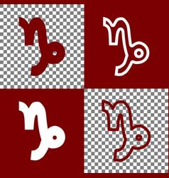 Capricorn sign   bordo and vector