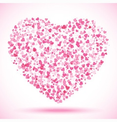 Spot of many hearts Valentines Day vector image