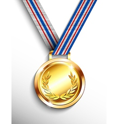 Gold medal wreth olympics first place vector