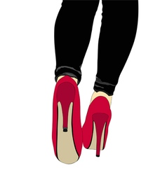 Legs and shoes with heels number 022 vector