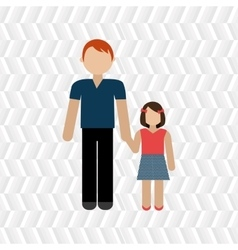 Members of the family design vector