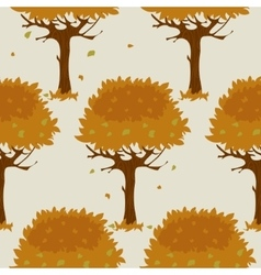 Seamless pattern with orange trees in autumn vector