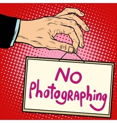 Hand sign no photorgaphing vector