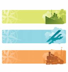 Transport banners vector