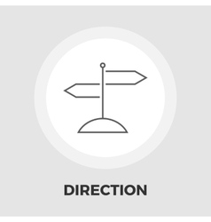 Signpost flat icon vector