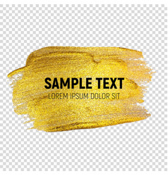 abstract golden paint textured art vector image