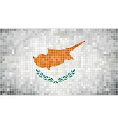 Abstract mosaic flag of Cyprus vector image vector image