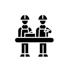assembly line icon black vector image vector image