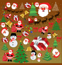 background texture with christmas elements vector image vector image