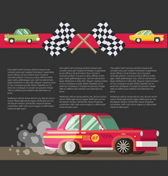 Background with retro racing car eps 10 vector
