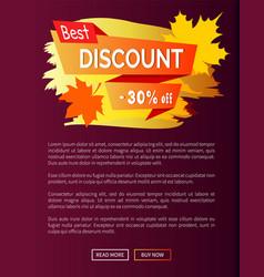 Best discount autumn sale - 30 off advert poster vector
