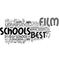best film schools text word cloud concept vector image vector image
