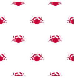 big pink crab pattern seamless vector image vector image
