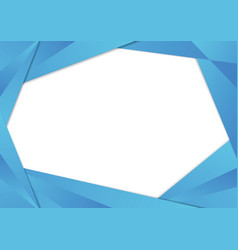 Blue triangle frame border vector