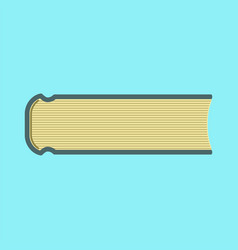 Book icon flat vector