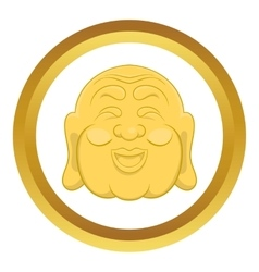 Budha head icon vector