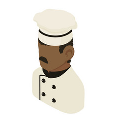 chef man african american icon isometric 3d style vector image vector image