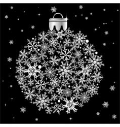 Christmas bauble vector image vector image