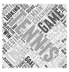 Coaching tennis word cloud concept vector
