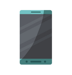 colorful silhouette of smartphone with half shadow vector image