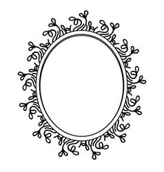 Decorative blank label vector