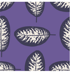 Dieffenbachia ultra violet tropical leaf seamless vector