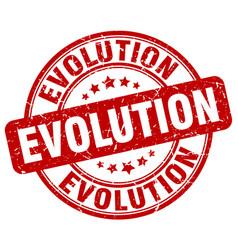 evolution red grunge stamp vector image vector image