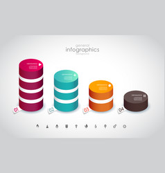four colored columns with place for your own text vector image vector image