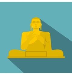 Golden Buddha icon flat style vector image vector image