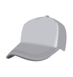 grayscale silhouette with baseball cap vector image