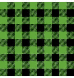 Green and black pattern flannel background vector
