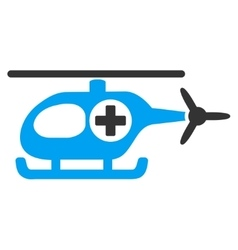Medical Helicopter Icon vector image