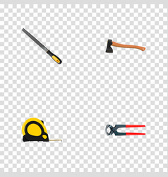 realistic sharpener hatchet tongs and other vector image vector image