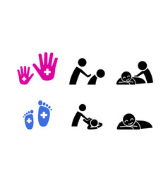 Set of massage icon vector
