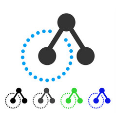 Structure analysis flat icon vector