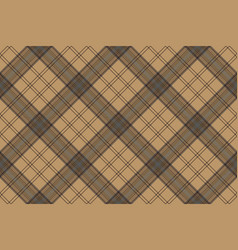 Tartan brown beige seamless fabric texture vector