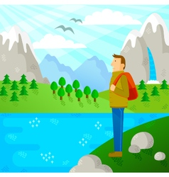 travel in nature vector image