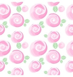 watercolor roses imitation and cute little flowers vector image