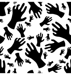 Zombie hand seamless pattern vector