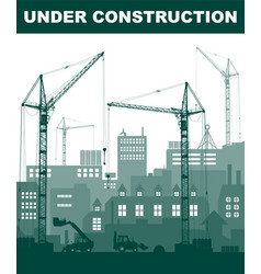 Turquoise under construction concept at building vector