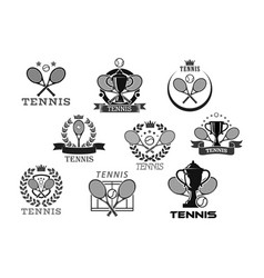 Icons for tennis club or tournament awards vector