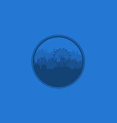 Background amusement park silhouette vector