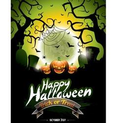 on a Happy Halloween theme vector image