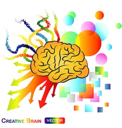 Creative abstract brain vector