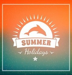 Retro summer holidays hipster label design vector