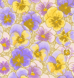 Seamless pattern with pansy vector