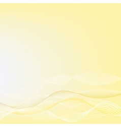 Abstract yellow background yellow wave design vector