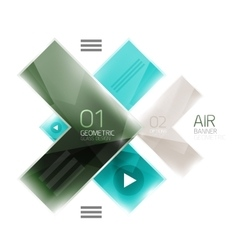 Color glossy glass arrow banner vector