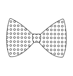 Bowtie icon suit male part design graphic vector