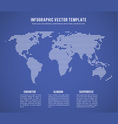abstract world map with horizontal line texture vector image